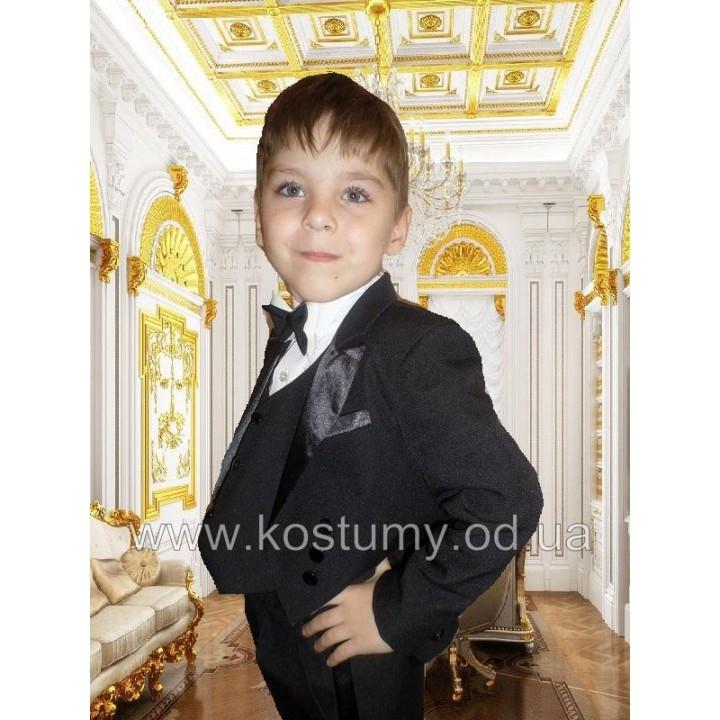 Фрачный костюм черный, костюм Джентльмена, рост 104, 110, 116 см