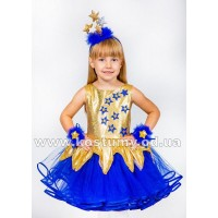 Звездочка в синем с золотом, Звездочка, Звезда, костюм Звездочки, костюм Звезды