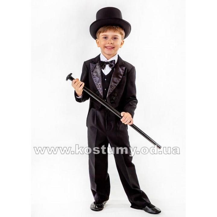 Джентльмен в черном, Джентльмен, костюм Джентльмена, рост 104-140 см