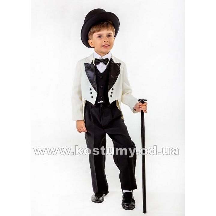 Джентльмен в молочно-черном, Джентльмен, костюм Джентльмена, рост 110-140 см