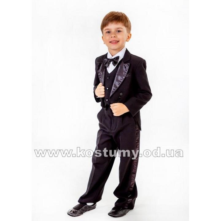 Фрачный костюм черный, фрак, черный фрак, костюм фрачный, рост 104, 110, 116, 122 см