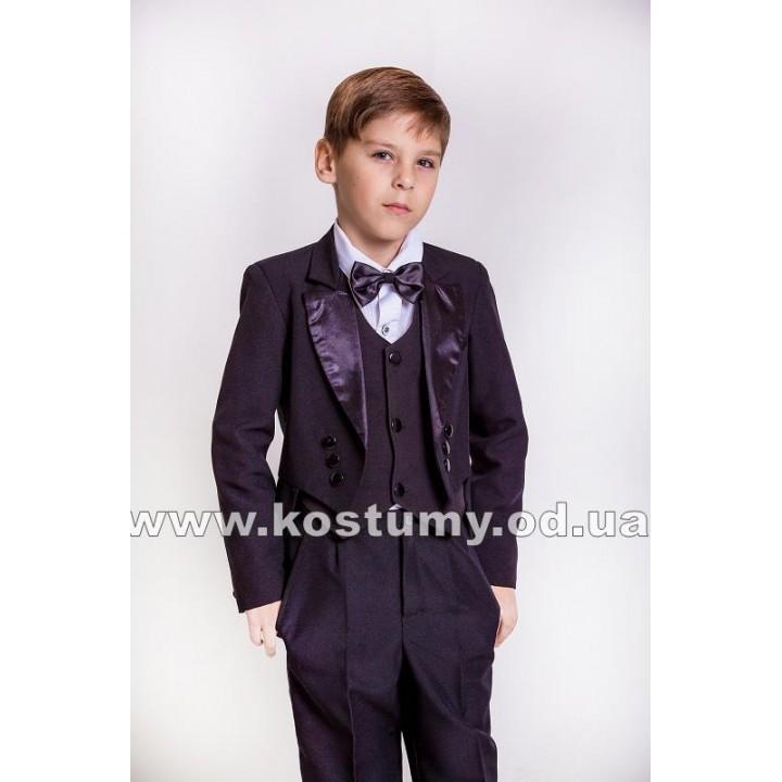 Фрачный костюм черный, костюм Джентльмена, рост 122, 128 см
