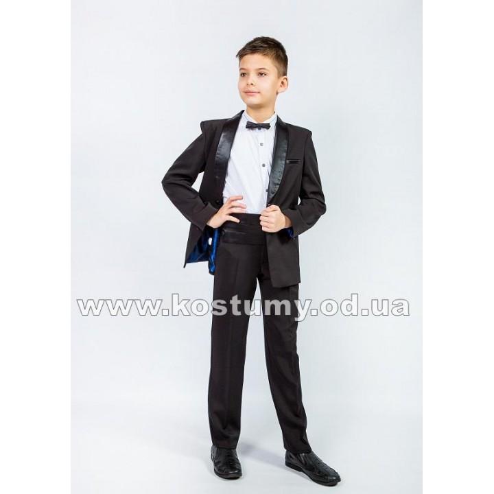 Смокинг, цвет черный, костюм на выпускной в 4 класс, смокинг для подростков