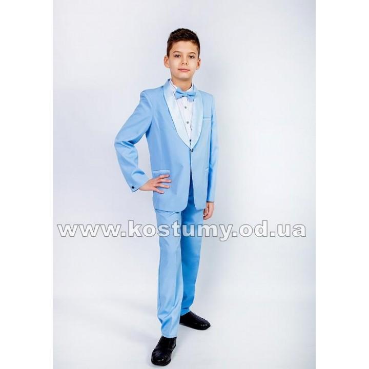 Смокинг, цвет небесно-голубой, костюм на выпускной в 4 класс, смокинг для подростков