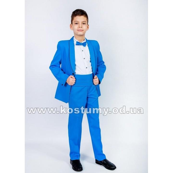 Смокинг, цвет темный голубой, костюм на выпускной в 4 класс, смокинг для подростков
