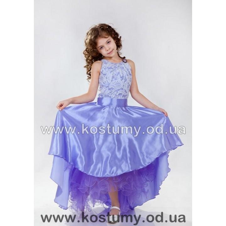 Платье на выпускной в 4 класс АМЕЛИЯ, выпускное платье, платье бальное, модель АСИММЕТРИЯ