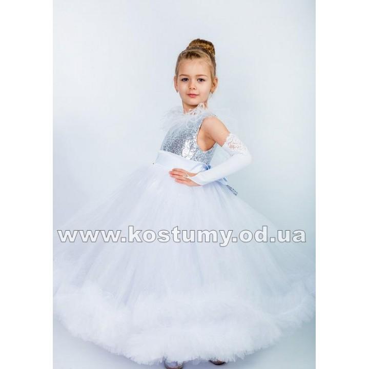 Платье на выпускной модель СНЕЖАНА, детское выпускное платье, нарядное детское платье