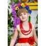 Платье в украинском стиле ВЕСНА УКРАИНЫ, праздничное платье