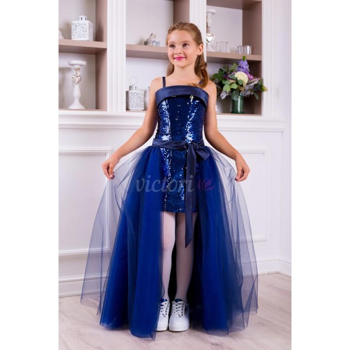 Платье на выпускной КРИСТАЛ, модель ТРАНСФОРМЕР, детское выпускное платье