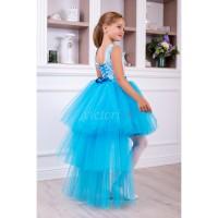 Платье на выпускной модель ПАМЭЛА, выпускное платье, асимметрия
