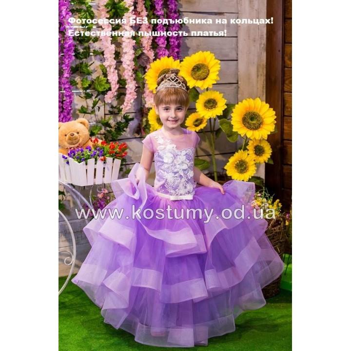 Детское платье на выпускной модель СЕЛЕНА, выпускное платье в садик