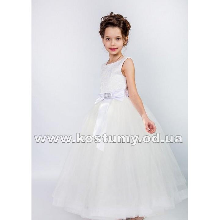 Платье выпускное модель СОФИ, нарядное платье, цвет молочный