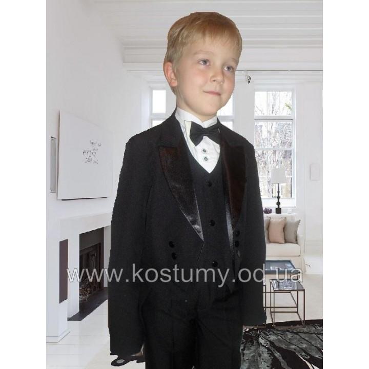 Фрачный костюм черный, костюм Джентльмена, рост 134, 140 см