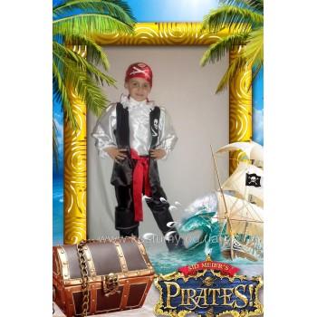 Пират 1, костюм Пирата, костюм в стиле пиратской вечеринки