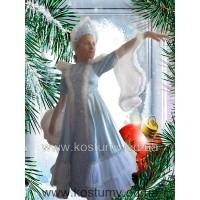 Снегурочка Царская, Зима, костюм снегурочки, костюм Зимы, рост 125-135 см