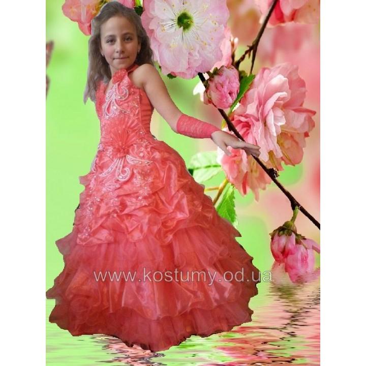 Платье бальное, платье на праздник, платье выпускное ЛИЛИЯ, рост 116-130 см