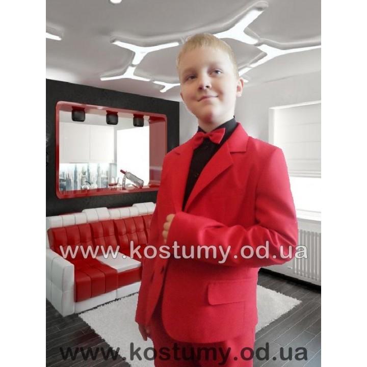 Костюм на выпускной в 4 класс, красный костюм тройка