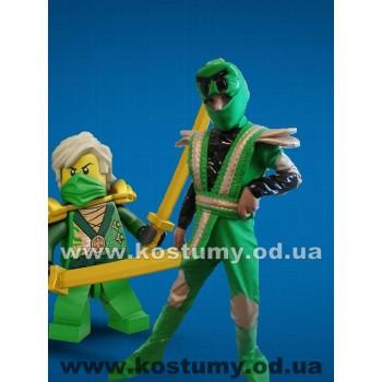 Ниндзя Зеленый, костюм ниндзяго Ллойд, костюм Зеленого ниндзя рост 120-135 см