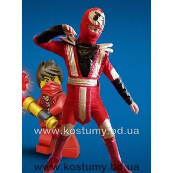Ниндзя Красный, костюм ниндзяго Кай, костюм Красного ниндзя