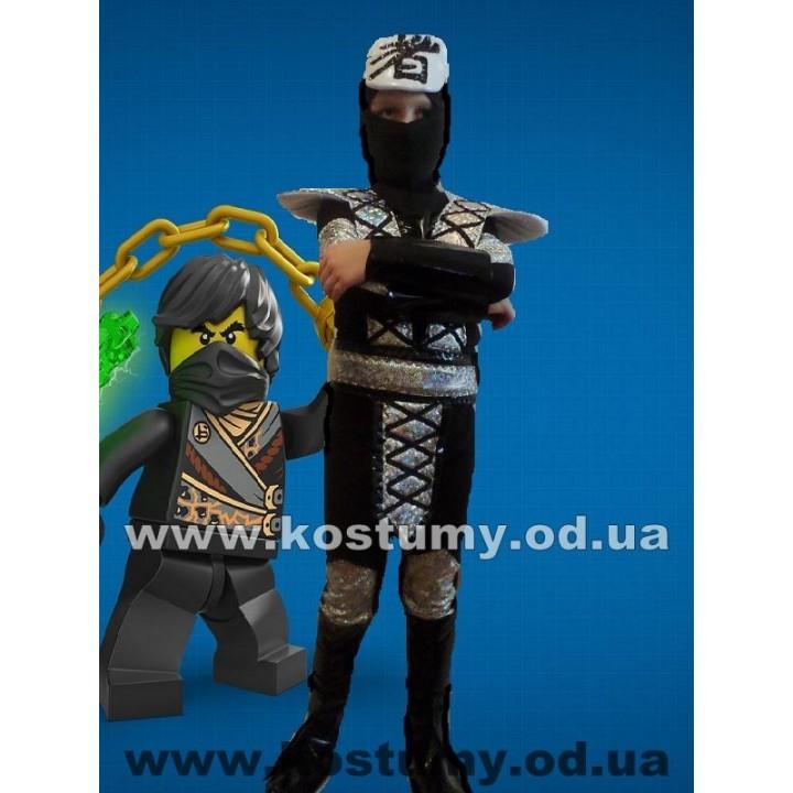 Ниндзя Черный, костюм ниндзяго Коула, костюм Черного Ниндзя