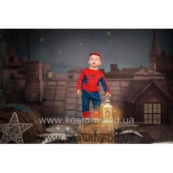 Человек Паук мини, Спайдермен, костюм человека Паука, костюм Спайдермена для малыша, 1-2 года