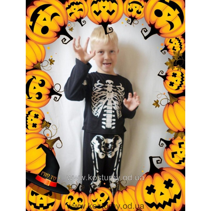 Скелет 2, костюм Скелета, костюм на Хэллоуин