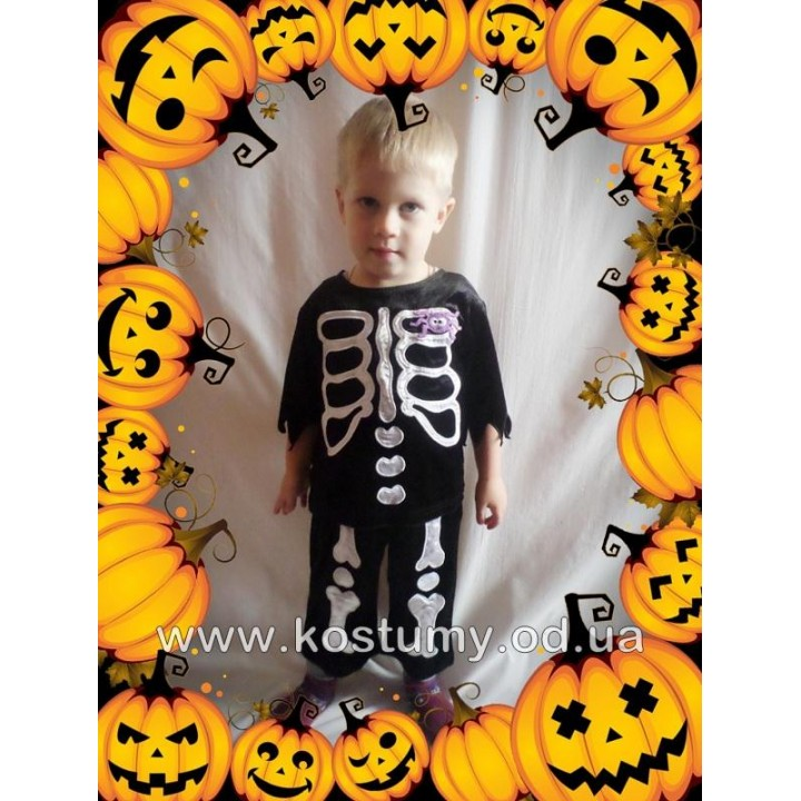 Скелет 3, костюм Скелета, костюм на Хэллоуин, возраст 6 мес-2 годика