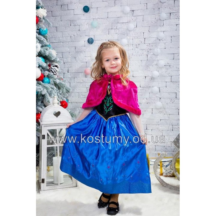 Холодное Сердце, Анна, Принцесса Анна, костюм Холодное Сердце, костюм Анны, костюм Принцессы Анны, 3-6 лет