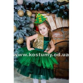 Елочка Золотистая, Елочка, Елка, костюм елочки, костюм Елки, рост 95-115 см