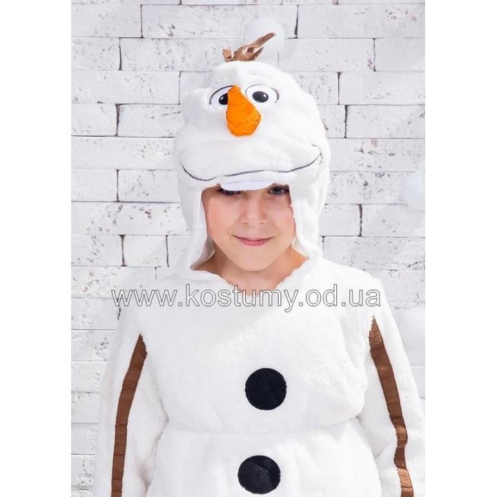 """Снеговик Олаф, Снеговик, костюм Снеговика, костюм Снеговика Олафа, костюм Олафа, м/ф """"Холодное сердце"""", в двух ростах 5-6 лет и 7-8 лет"""