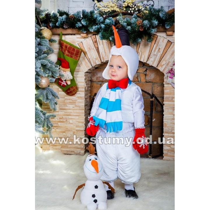 Снеговик Малыш, Снеговик, Снеговичок, костюм Снеговика, костюм Снеговичка, рост 95-115 см