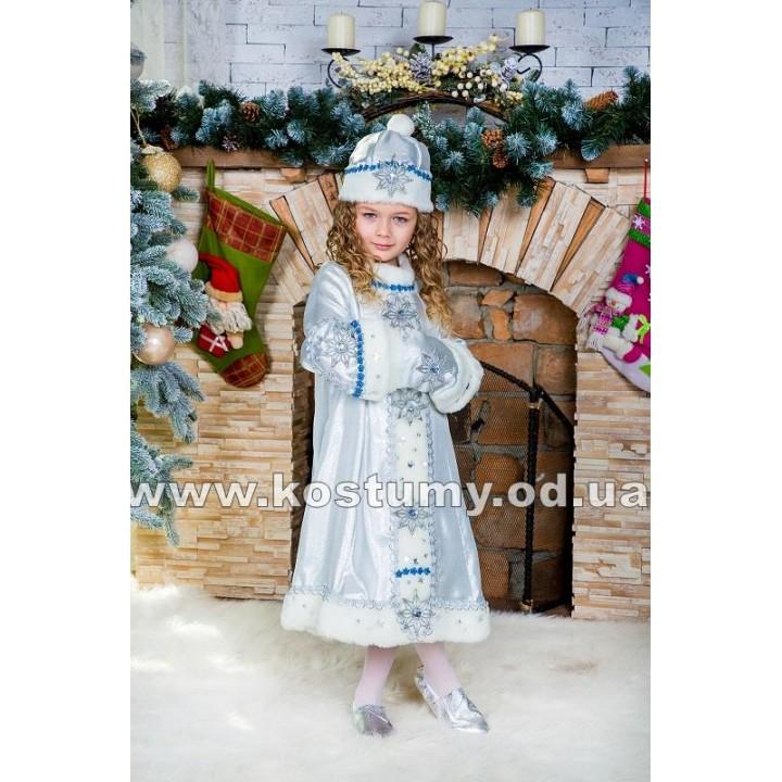 Снегурочка Серебряная, Снегурочка, костюм Снегурочки, рост 116-135 см