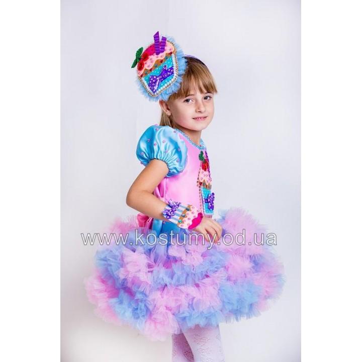 Тортик, Пирожное, Сладость, костюм Тортика, костюм Пирожного, костюм Сладости для девочек