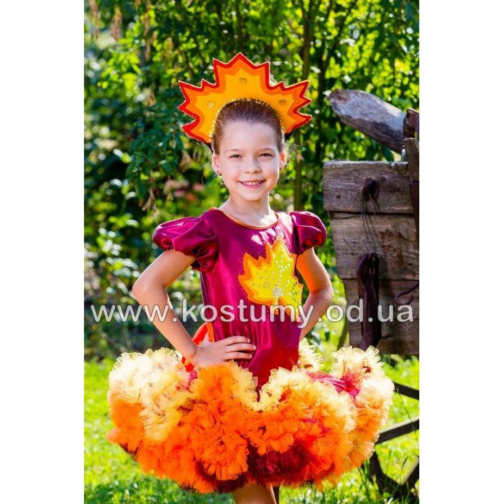 Осень Багряная, Листик, Осенний Листик, костюм Осени, костюм Листика