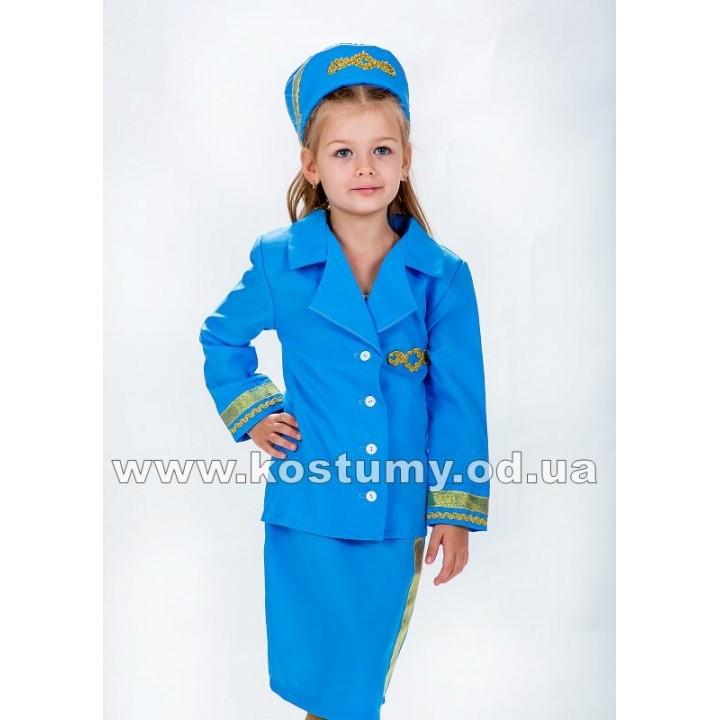 Стюардесса, Бортпроводница, костюм Стюардессы, рост 116-130 см