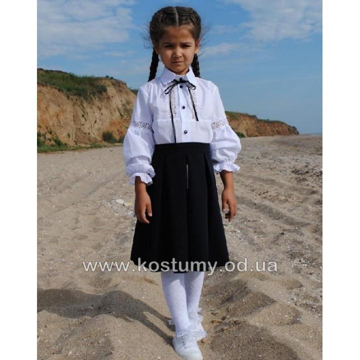 Школьная форма для девочек. Юбка школьная МАДОННА. Цвет - синий, черный. Р-ры  110, 116, 122, 128, 134, 140, 146 см
