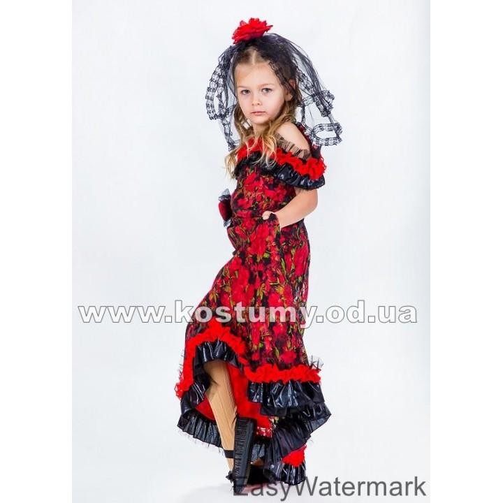 Испанка, костюм Испанки, костюм в испанском стиле, костюм Испания, испанский костюм