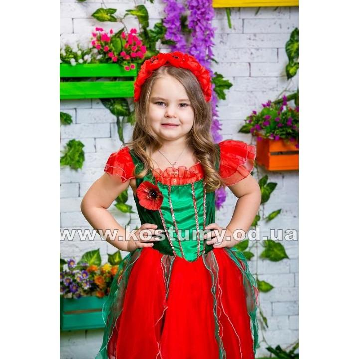 Мак, Цветок, Цветочек, костюм Цветочка, костюм Мака для девочек