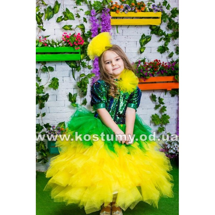 Одуванчик, Цветочек, костюм Одуванчика, костюм Цветочка для девочек