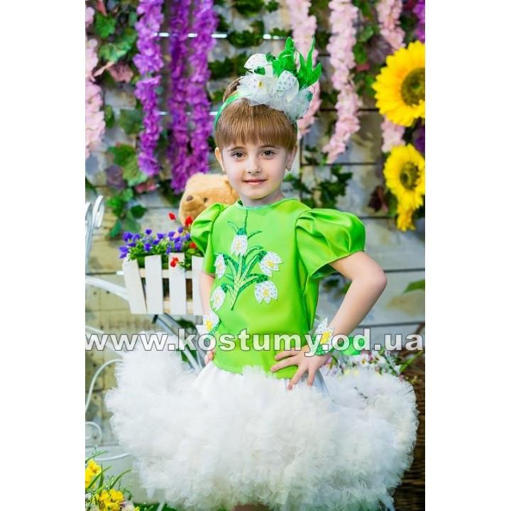 Подснежник, Цветочек, костюм Цветочка, костюм Подснежника для девочек