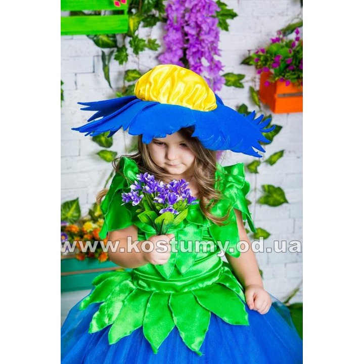 Василек 1, костюм Василька, Цветок, Цветочек, костюм Цветка, костюм Цветочка