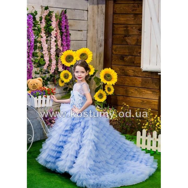 Выпускное платье ГАБРИЭЛЬ, шлейфовое платье, платье на выпускной