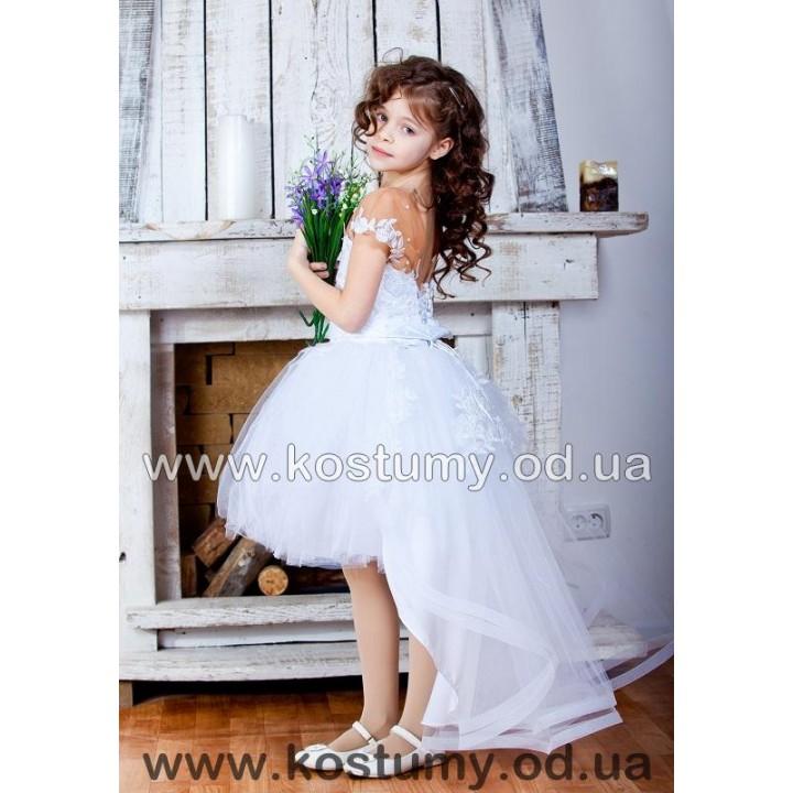 Выпускное платье КАМИЛЛА, новогоднее платье, трансформер со съемным шлейфом