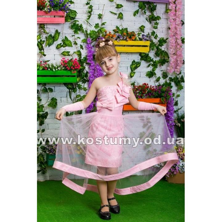 Платье выпускное ЛАУРА, детское платье на выпускной в сад, модель Трансформер рост 116-134 см