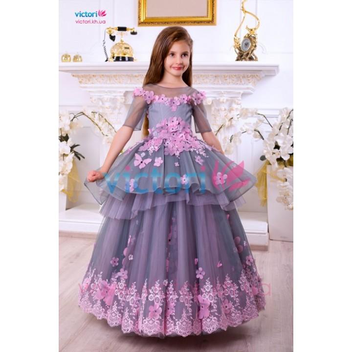 Платье на выпускной в сад НИКОЛЬ, выпускное платье в садик, детское бальное платье