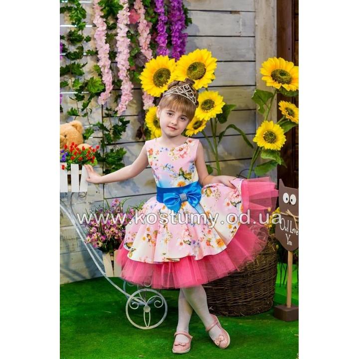Выпускное платье в сад ПРОВАНС 1, платье на выпускной в садик, нарядное детское платье