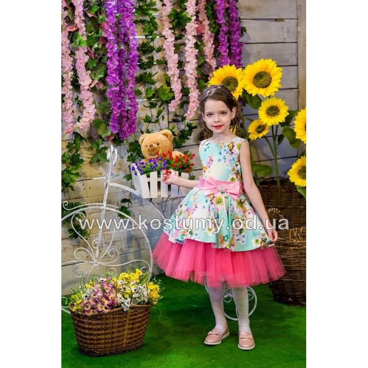 Выпускное платье в сад ПРОВАНС 2, платье на выпускной в садик, нарядное детское платье