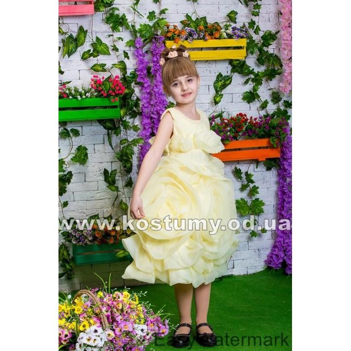 Детское коктейльное платье РОУЗ, выпускное платье, платье на выпускной в сад