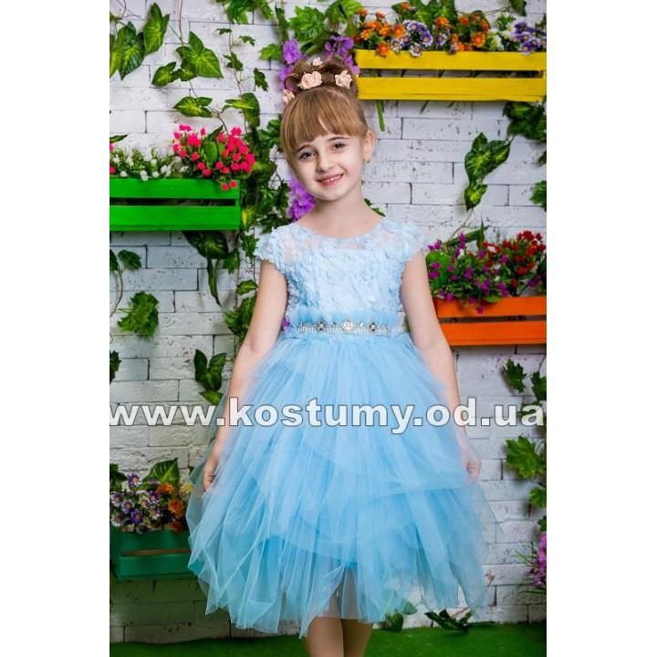 Платье выпускное модель СКАЙ, коктейльное детское платье, платье на выпускной в сад