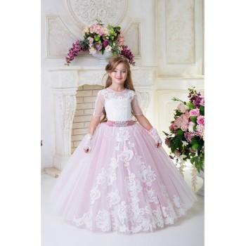 Выпускное платье в сад ТИФФАНИ пудра, бальное платье для принцессы